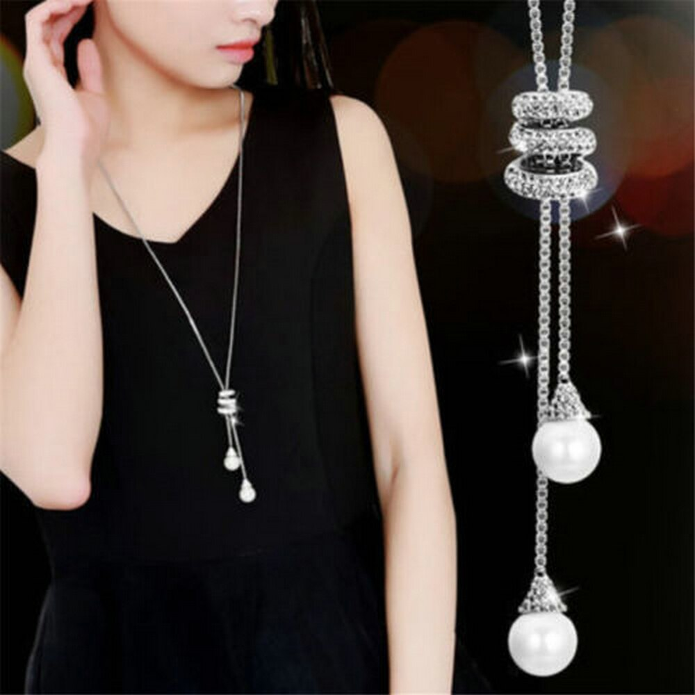 High-Quality-Fashion-Metal-Silver-Long-Tassel-Rhinestone-Crystal-Pearl-Long-Chain-Necklace-Sweater-Patry-Necklace